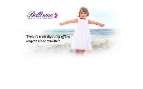 Screenshot of Home Page bellisime.be - Naamloos document - captured Oct. 5, 2014