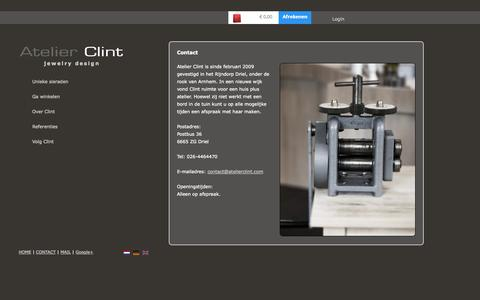 Screenshot of Contact Page atelierclint.nl - Contact   Atelier Clint - captured Oct. 4, 2014