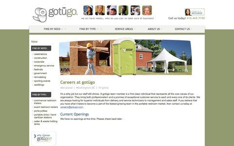 Screenshot of Jobs Page gotugo.com - Careers | We're Hiring | gotügo - captured July 25, 2018