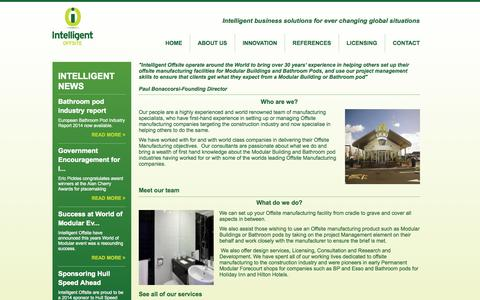 Screenshot of About Page intelligentoffsite.com - Intelligent Group - About us - captured Oct. 1, 2014