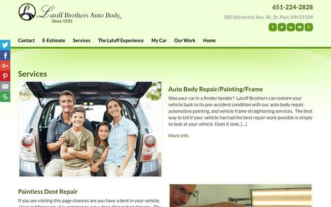 Screenshot of Services Page latuffbrothers.com - Services | Latuff Brothers Auto Body - captured Dec. 14, 2018