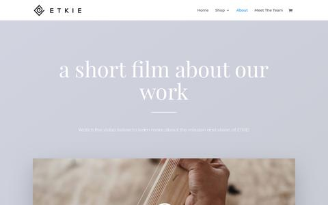 Screenshot of About Page etkie.com - About | ETKIE - captured July 21, 2018