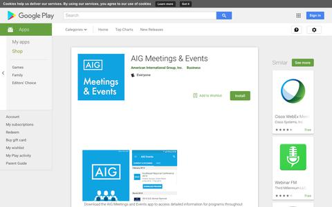 AIG Meetings & Events - Apps on Google Play