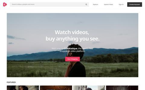 Screenshot of Home Page cinematique.com - Cinematique - captured April 13, 2018