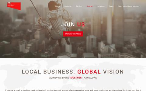 Screenshot of Signup Page etl-global.com - Join ETL Global | Tax | Legal | Audit | ACCOUNTING & SERVICES - captured July 6, 2018