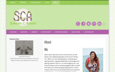 Screenshot of About Page summercamber.com - About - captured Oct. 8, 2014