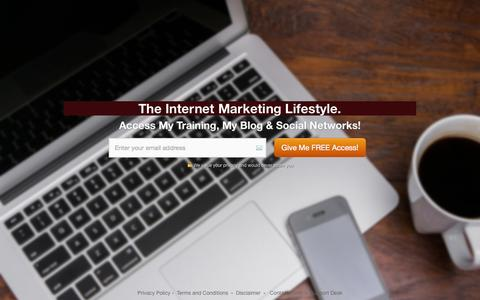 Screenshot of Home Page kevinfahey.net - Kevin Fahey - Internet Marketing Tips & Tricks — Kevin Fahey - captured Sept. 23, 2014