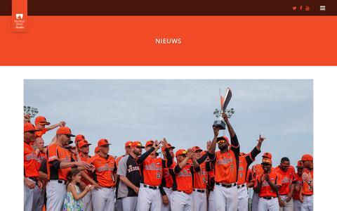 Screenshot of Press Page honkbalweek.nl - HonkbalWeek Haarlem     Nieuws - captured Oct. 17, 2016