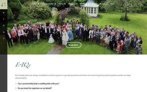 Screenshot of FAQ Page foxandhoundshotel.co.uk - FAQs - Fox and Hounds Hotel | North Devon | Weddings | Fishing | Dog Friendly | Treehouse | Family Hotel - captured Oct. 14, 2017