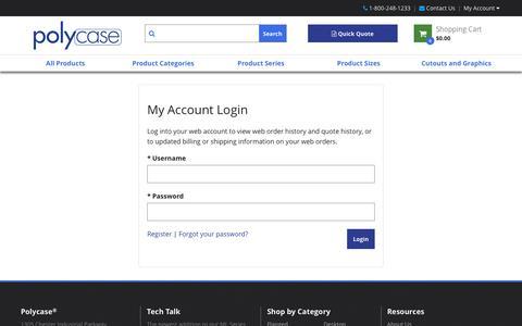 Screenshot of Login Page polycase.com - Account Sign-in - captured Nov. 7, 2016