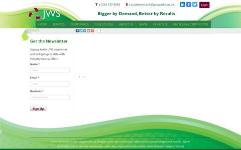 Screenshot of Press Page jwswaste.co.uk - Latest Waste Disposal and Waste Management News | JWS Waste - captured Nov. 26, 2016