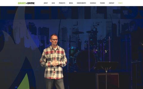 Screenshot of Home Page iborme.com - Brian Orme - Demonstrating the Kingdom of God - captured Oct. 6, 2014