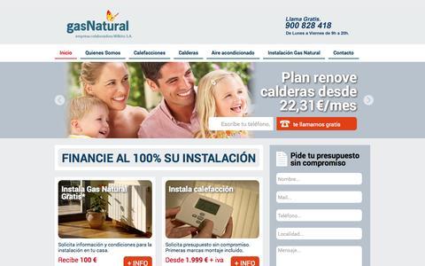 Screenshot of Home Page gasnaturalia.es - Gas Natural - Especializados en instalaciones - captured Aug. 29, 2015