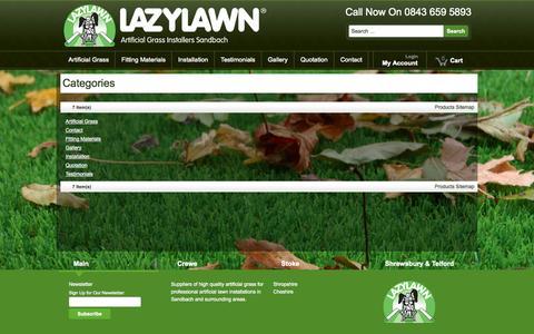 Screenshot of Site Map Page lazylawnsandbach.co.uk - Site Map - captured Sept. 29, 2014