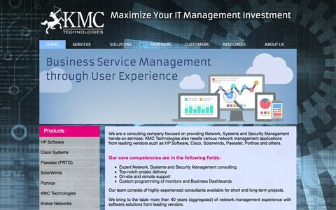 Screenshot of Home Page nms-guru.com - KMC Technologies - HOME - captured Feb. 12, 2016