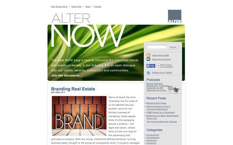 Screenshot of Blog altergroup.com - Alter NOW - captured Oct. 26, 2014