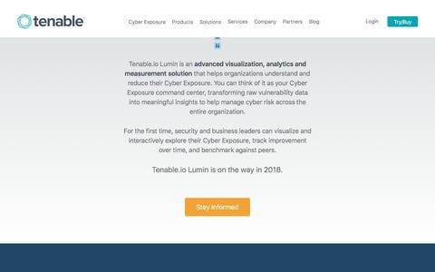 Tenable.io Lumin | Tenable™