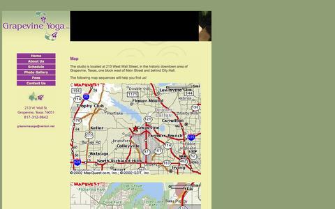 Screenshot of Maps & Directions Page grapevineyoga.com captured Sept. 30, 2014