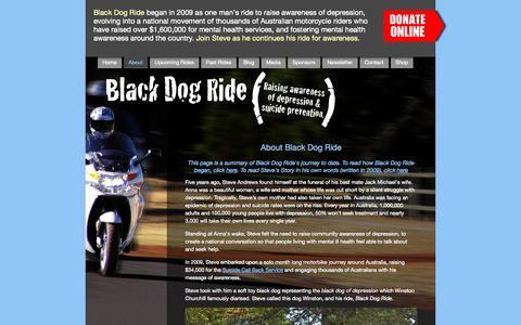 Screenshot of About Page blackdogride.com.au - Black Dog Ride - Our Story - captured Sept. 30, 2014