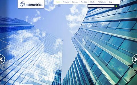 Screenshot of Home Page ecometrica.com - Ecometrica | Bringing Clarity to Sustainability Management - captured July 11, 2014