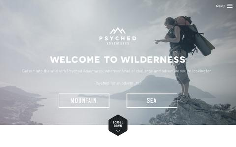 Screenshot of Home Page psyched-adventures.com - Psyched Adventures - captured Sept. 30, 2014