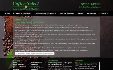 Screenshot of Press Page coffee-select.co.uk - Coffee Select Ltd – Coffee Industry News - captured July 20, 2018