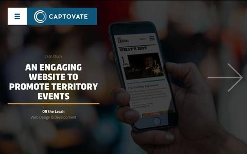 Screenshot of Case Studies Page captovate.com.au - Case Studies | Captovate - captured July 16, 2018