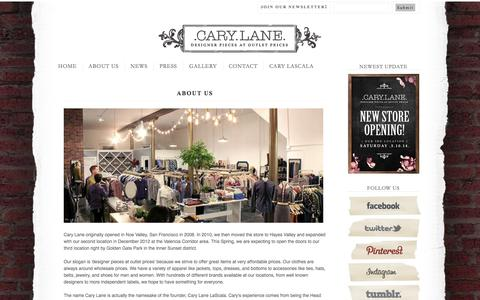 Screenshot of About Page carylanesf.com captured Oct. 2, 2014