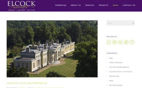 Screenshot of Press Page elcockassociates.co.uk - News « Elcock Associates - captured Nov. 4, 2018