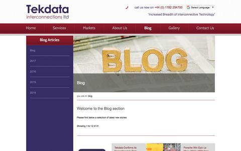 Screenshot of Blog tekdata-interconnect.com - Tekdata Blog and News - Tekdata - captured Oct. 27, 2017