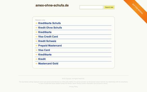 Screenshot of Home Page amex-ohne-schufa.de - amex-ohne-schufa.de - captured March 5, 2016