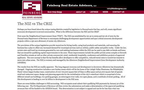 Screenshot of Blog feinbergrea.com - Feinberg Real Estate Advisors Blog |Feinberg REA - Lehigh Valley Commercial  and Industrial Real Estate - captured Oct. 5, 2014
