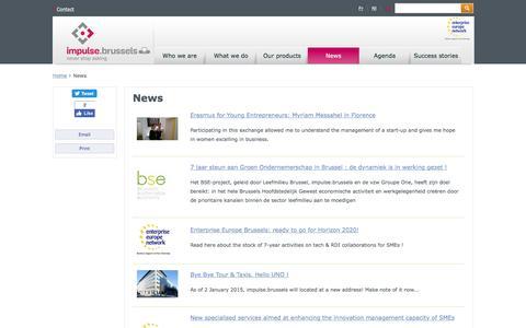 Screenshot of Blog Press Page abe-bao.be - News | BRUSSELS ENTERPRISE - captured Nov. 13, 2016