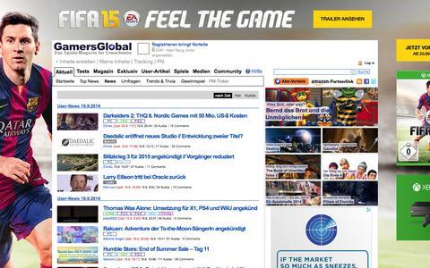 Screenshot of Press Page gamersglobal.de - News | GamersGlobal - captured Sept. 22, 2014