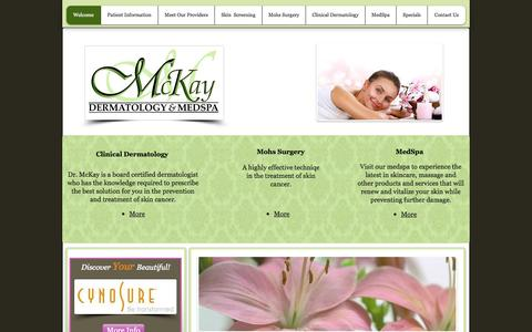 Screenshot of Home Page mckayderm.com - McKay Dermatology and Medspa - captured Oct. 6, 2014
