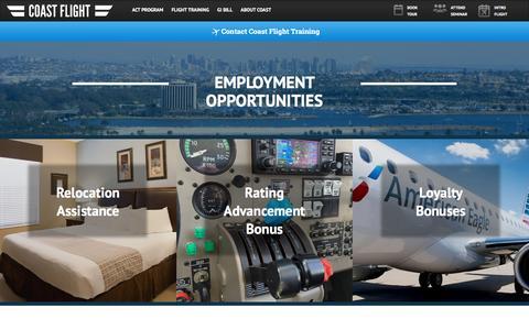 Screenshot of Jobs Page iflycoast.com - Careers - captured Jan. 29, 2016