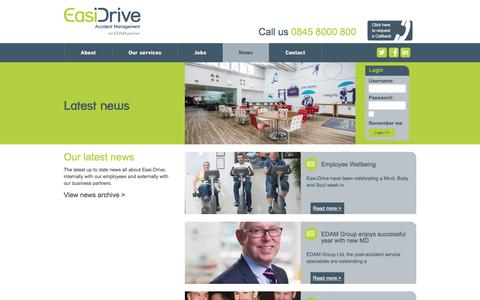 Screenshot of Press Page easidrive.com - News   EasiDrive - captured Oct. 19, 2016