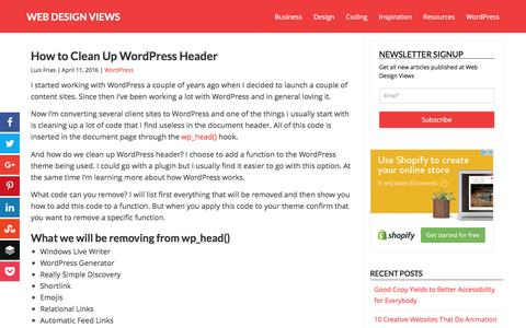 How to Clean Up WordPress Header