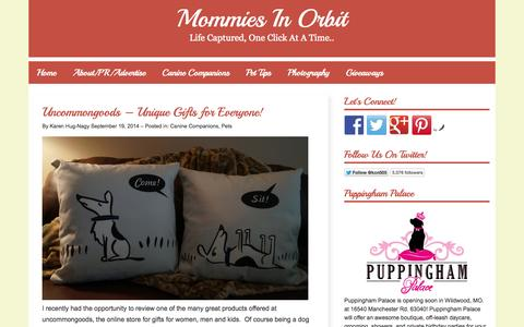 Screenshot of Home Page mommies-in-orbit.com - Mommies In Orbit — Life Captured, One Click At A Time.. - captured Sept. 22, 2014