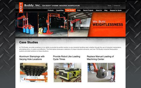 Screenshot of Case Studies Page tdabuddy.com - Case Studies | TDA Buddy - captured Oct. 18, 2018