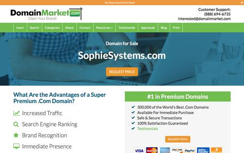 SophieSystems.com is for Sale! @ DomainMarket.com