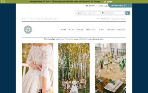 Screenshot of Home Page maineweddingguide.com - Maine Weddings Venues & Planning - captured Oct. 4, 2014