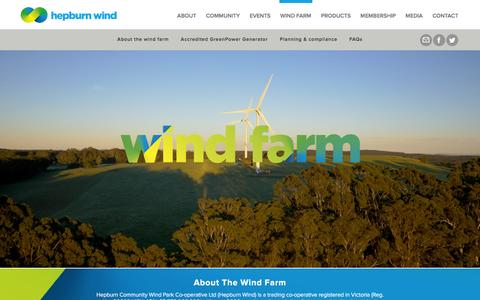 Screenshot of FAQ Page hepburnwind.com.au - Wind Farm - Hepburn Wind - captured Nov. 7, 2016