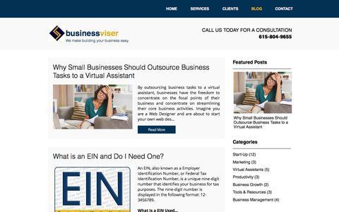 Screenshot of Blog businessviser.com - Small Business Blog   BusinessViser - captured June 9, 2017