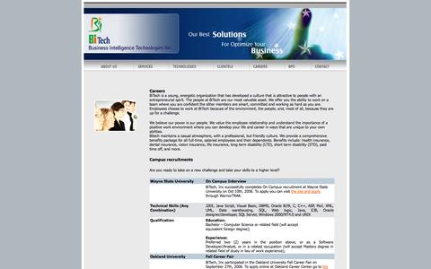 Screenshot of Jobs Page bitechinc.com - BiTech, Inc - Detroit, Michigan, America (USA) based IT Consulting, System Integration & Professional Staffing Company. - captured Sept. 30, 2014