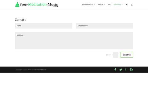 Screenshot of Contact Page free-meditation-music.com - Contact | Free Meditation Music - captured Dec. 5, 2016