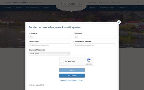 Screenshot of Contact Page uniworld.com - Contact Us | Uniworld Boutique River Cruises - captured Jan. 20, 2017