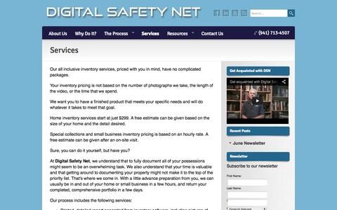Screenshot of Services Page digitalsafetynetfl.com - Services   Digital Safety Net - captured Oct. 5, 2014