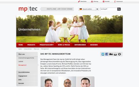 Screenshot of Team Page mp-tec.de - Management - captured Oct. 26, 2014