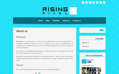 Screenshot of About Page risingpixel.com - RisingPixel » About us - captured Oct. 6, 2014